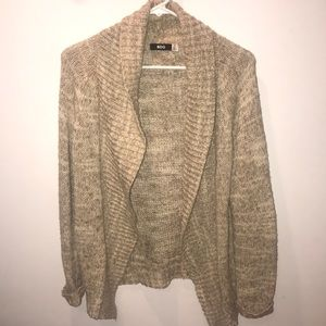 Tan knitted cardigan